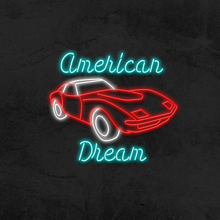 american dream car neon sign LED garage mk neon