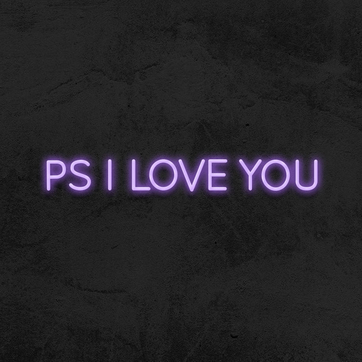 PS I love you neon sign led mk neon