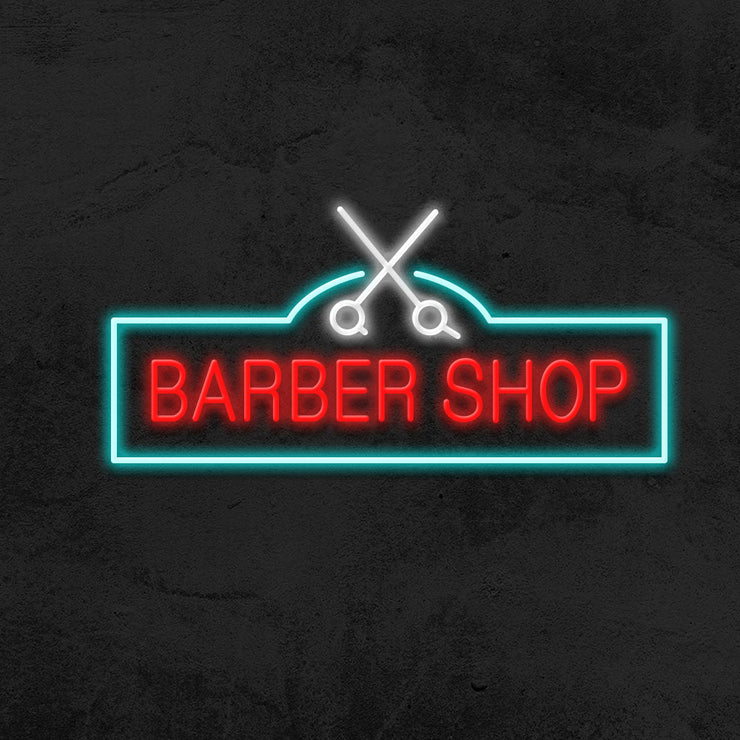 barbershop neon sign led mk neon