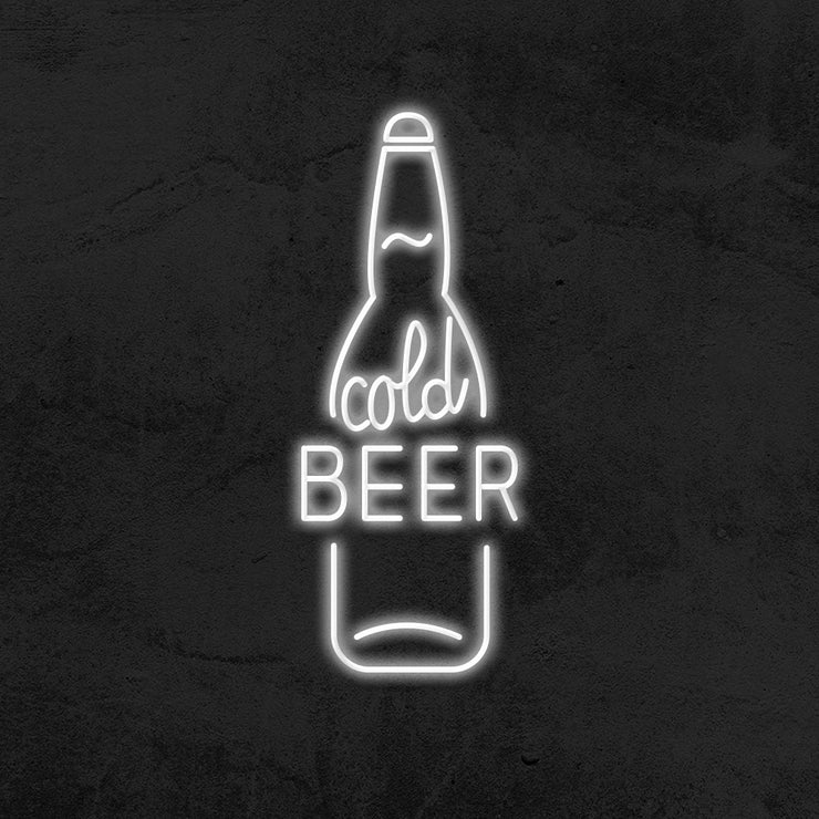 cold beer neon sign led mancave mk neon