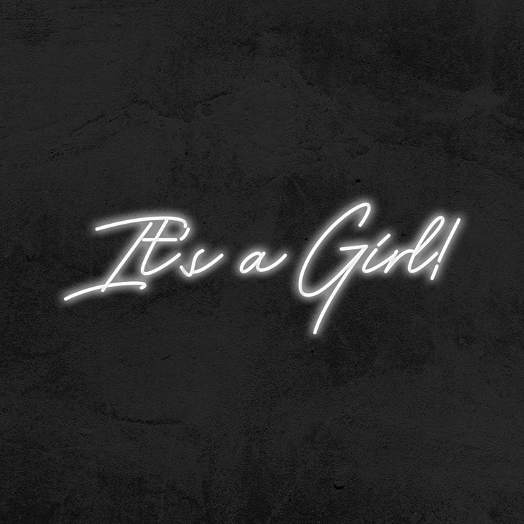 it's a girl neon sign led baby shower