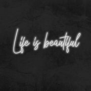 life is beautiful neon sign led home decor mk neon