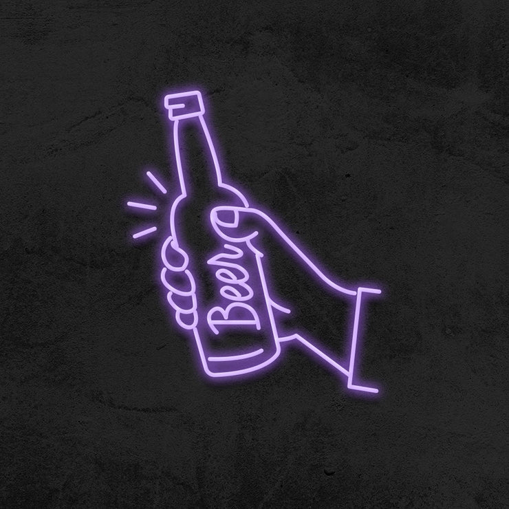 beer neon sign led mancave mk neon
