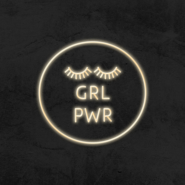 girl power neon sign led mk neon