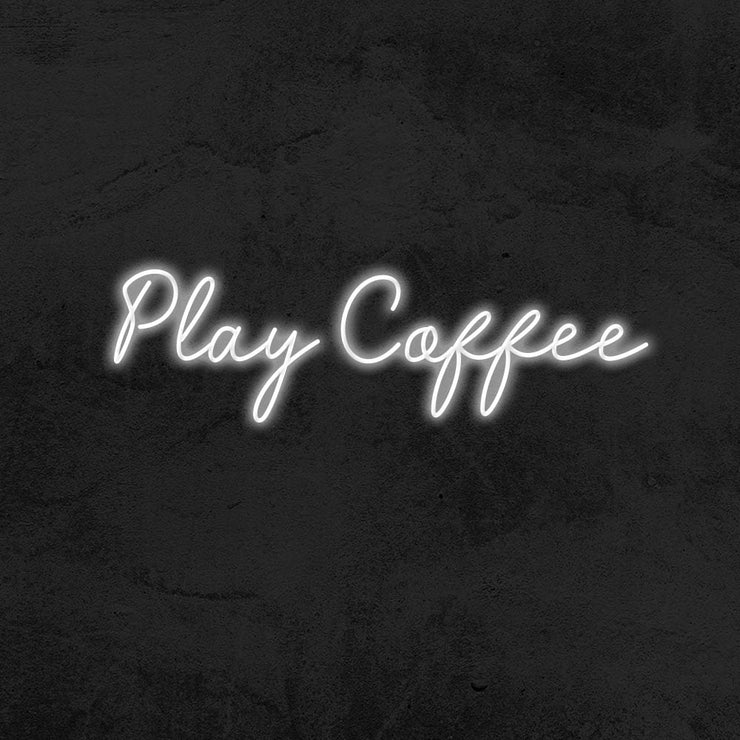 play coffee led neon sign MK neon