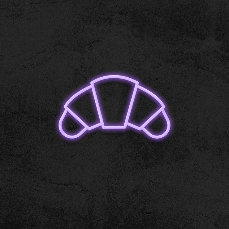 croissant neon sign led bakery mk neon