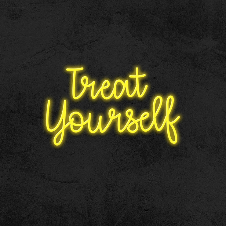 treat yourself neon sign led mk neon