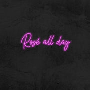 rosé all day led neon sign home decor mk neon