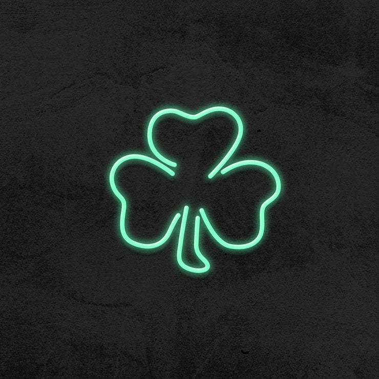 clover neon sign led mancave mk neon