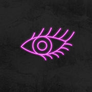 eye with lashes neon sign led mk neon