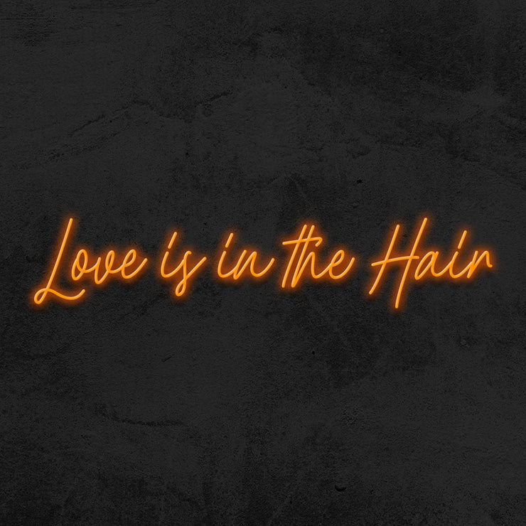 love is in the hair neon sign led hair salon mk neon