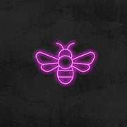 bee neon sign led home decor mk neon