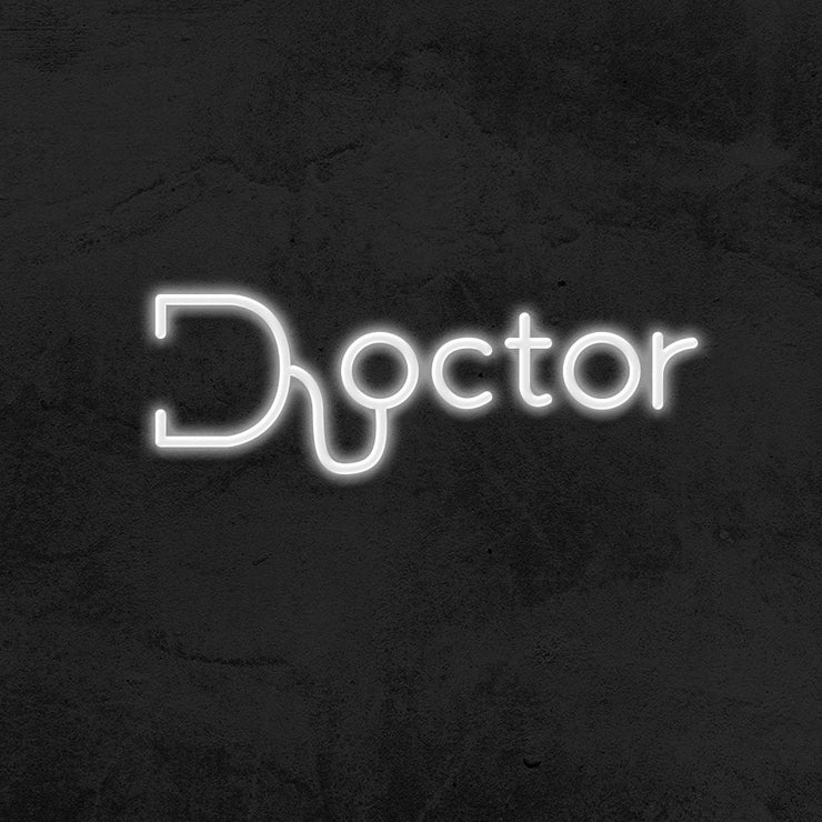 doctor neon sign led mk neon