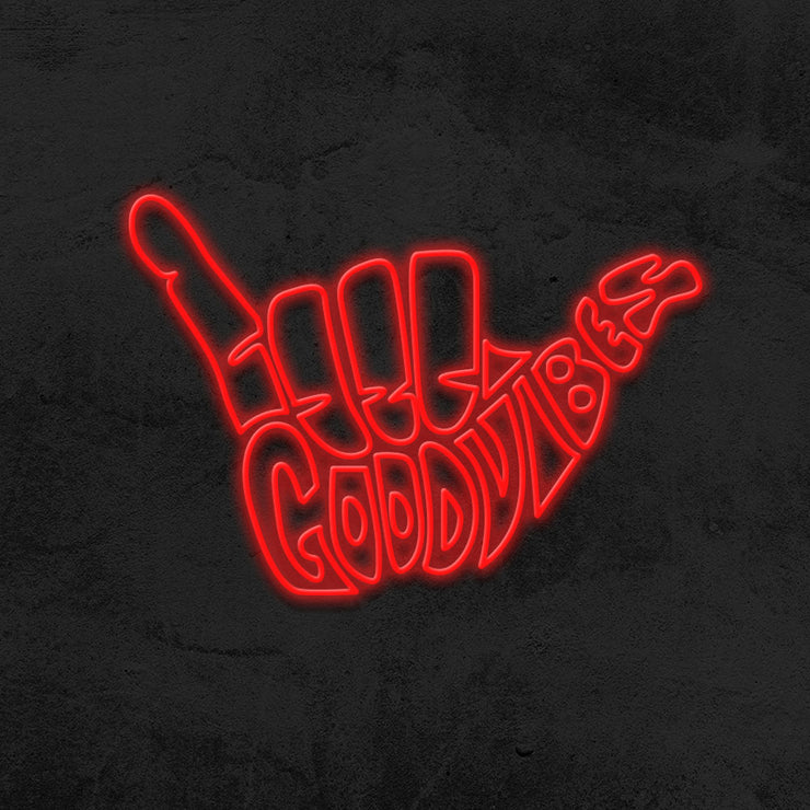 good vibes neon sign led mk neon
