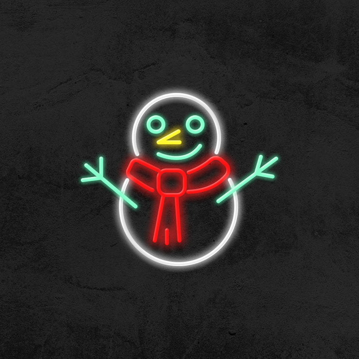 snowman neon sign led christmas mk neon