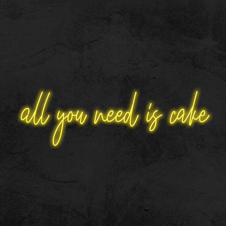 all you need is cake neon sign led bakery mk neon