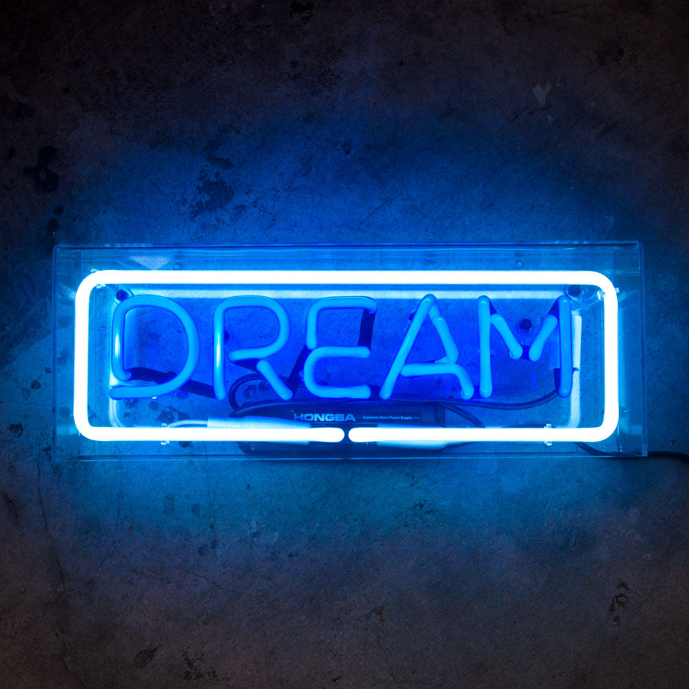 DREAM Neon Sign in Acrylic Box - MK Neon
