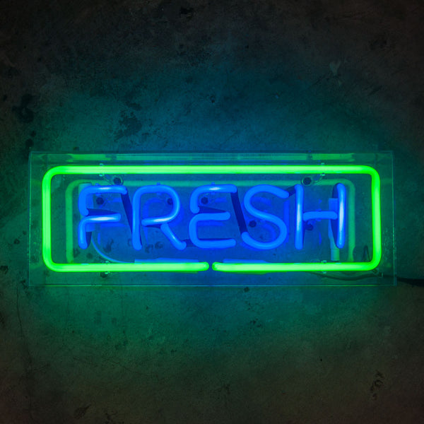 FRESH Neon Sign in Acrylic Box - MK Neon