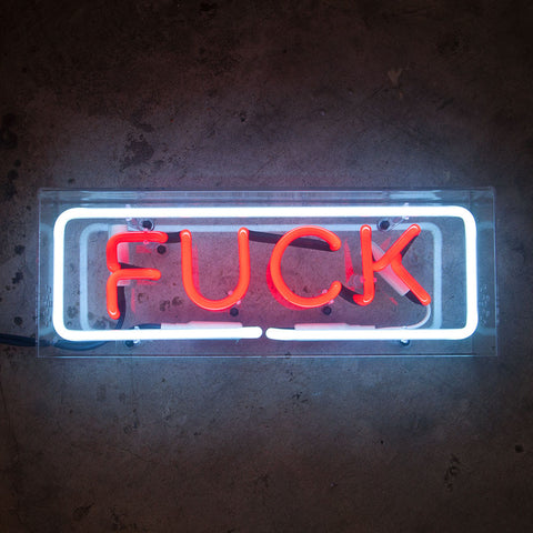 FUCK Neon Sign in Acrylic Box - MK Neon