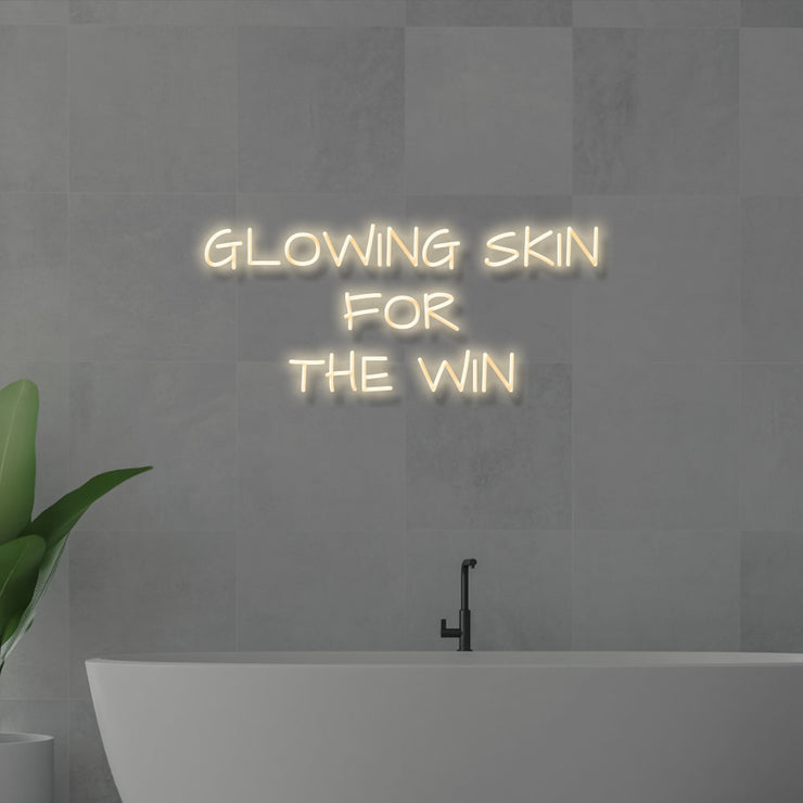Glowing Skin for the Win - LED Neon Sign