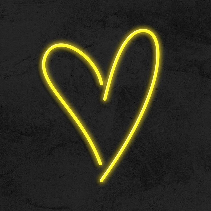 heart neon sign LED home decor mk neon
