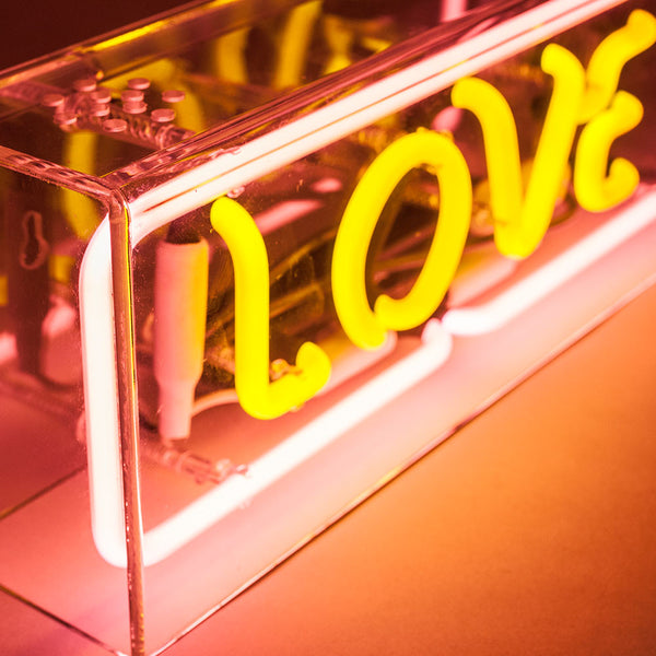 LOVE Neon Sign in Acrylic Box - MK Neon