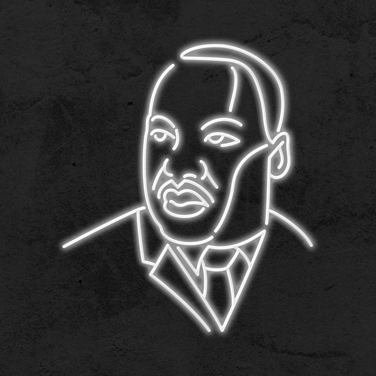 martin luther king neon sign LED MK NEON