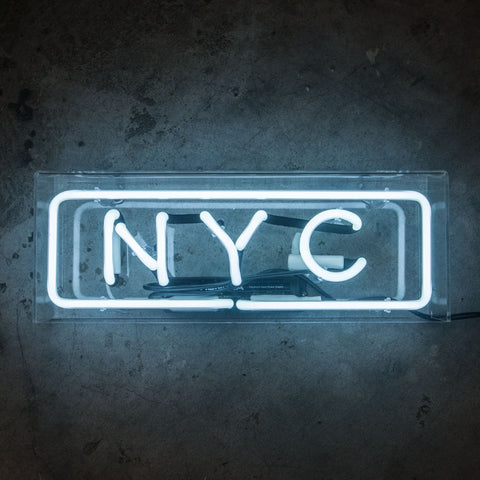 NYC Neon Sign in Acrylic Box - MK Neon