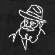 rebbe neon signs portraits LED MK neon