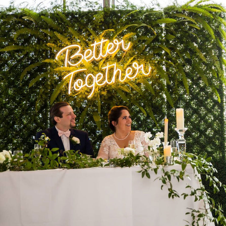 Better Together - LED Neon Sign - MK Neonbetter together LED neon sign wedding mk neon