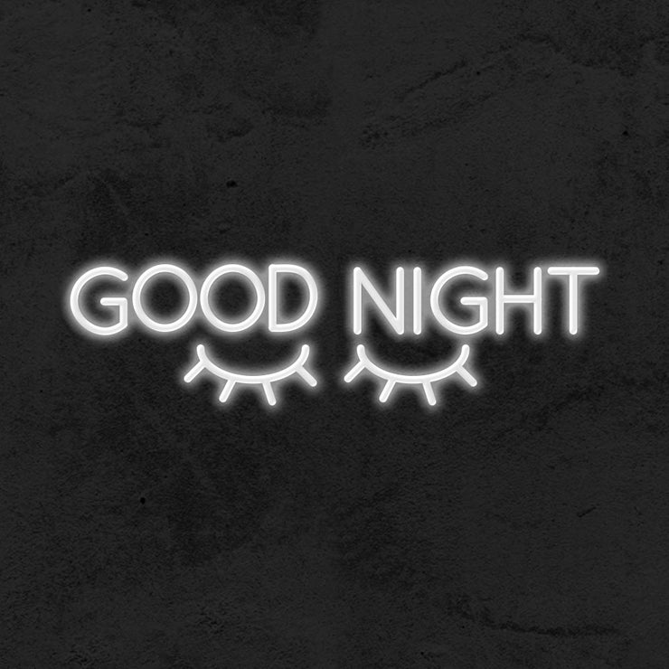 good night led neon sign kid room mk neon
