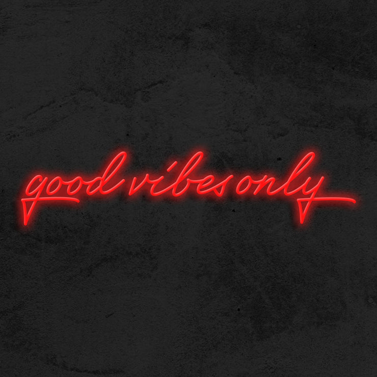 good vibes only neon sign led mk neon