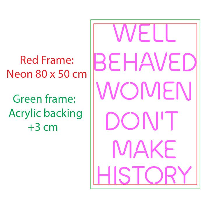 Well behaved women don't make history - LED Neon Sign