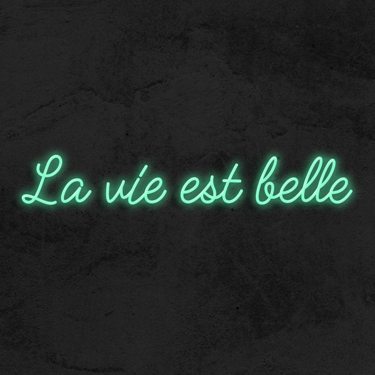 La vie est belle - LED Neon Sign