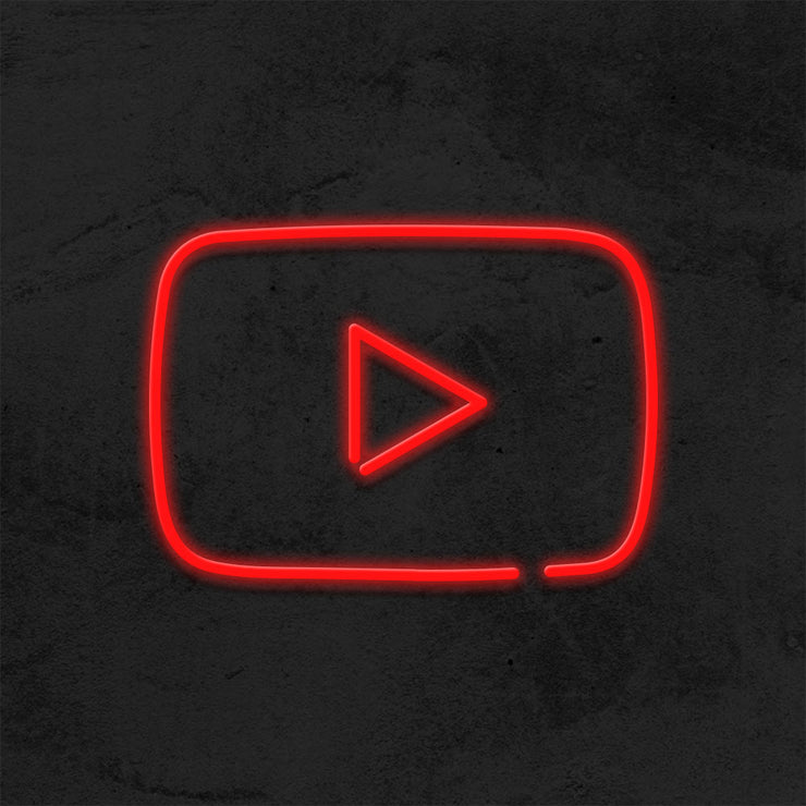 Logo Youtube - LED Neon Sign