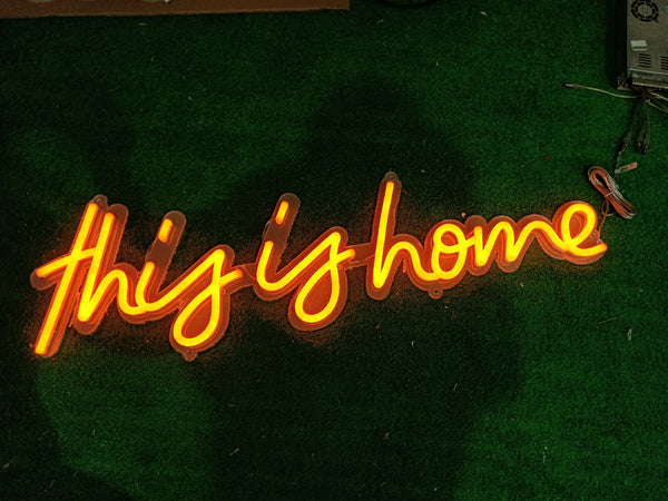 This is Home - Led Neon Sign - MK Neon