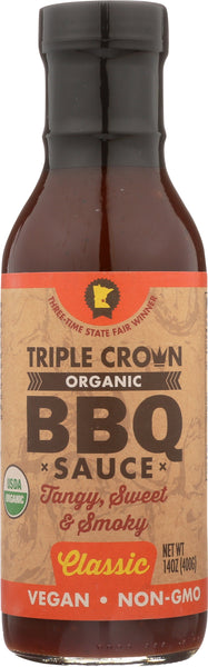 Triple Crown Organic BBQ Sauce Classic (14oz, 1-pack)