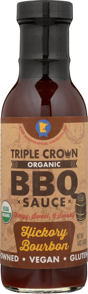 Triple Crown Organic BBQ Sauce Hickory Bourbon (14oz, 3-pack)