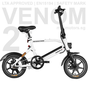 Venom 2 Plus Ebike Power Assisted Bicycle (PAB) LTA Approve with orange seal