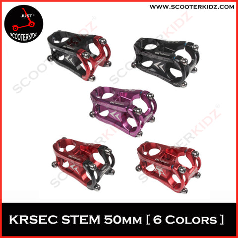 KRSEC ULTRA LIGHT SHORT STEM- Mountain/ Road/ Cross-country biking/ AM/ XC- Aluminiun alloy 31.8*50mm (MADE IN TAIWAN)