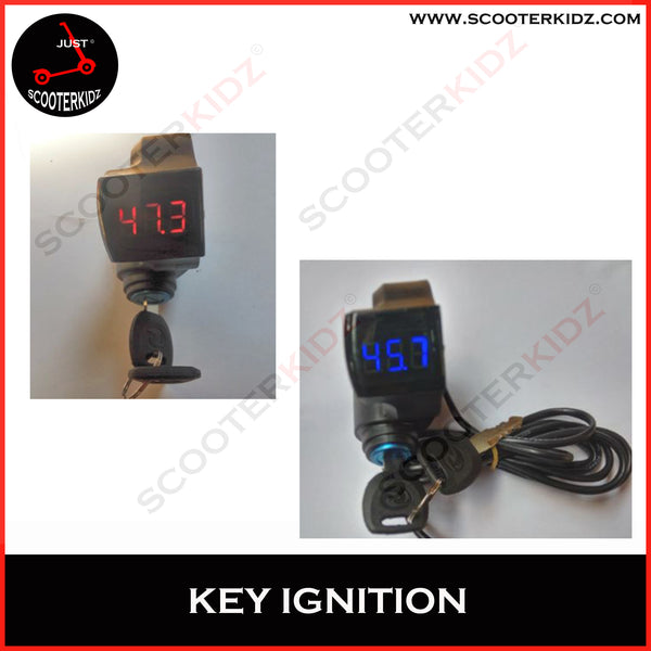 Key Ignition for Electric Scooter [Blue and Red ]