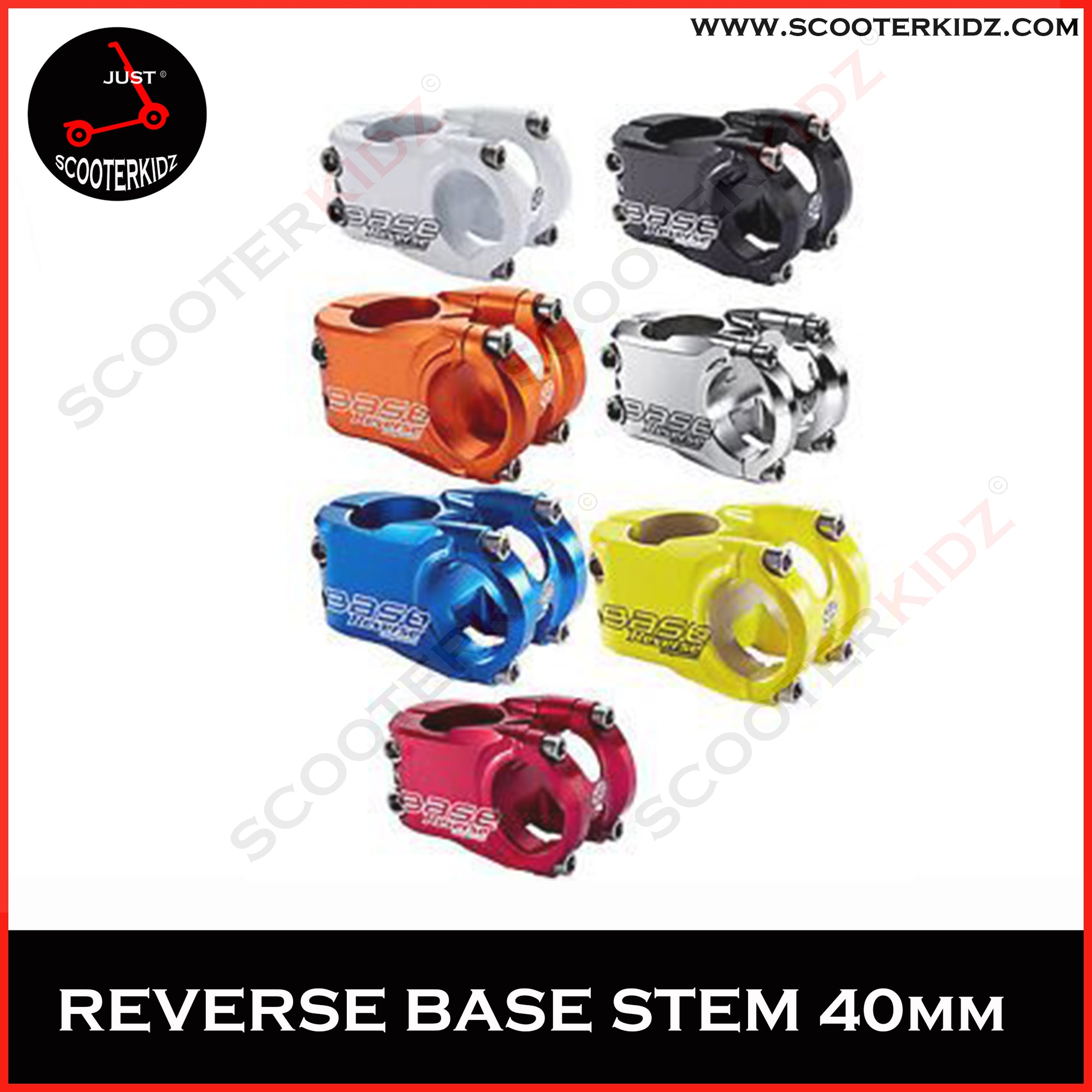 REVERSE STEM BASE 31.8 40MM [ Many Colors ]