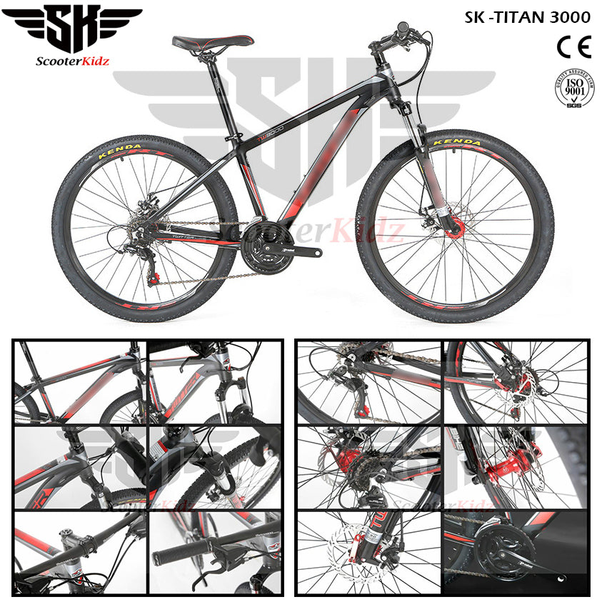 SK TITAN 3000 Aluminum Alloy Mountain Bike 27.5inch 21 Speed Shimano Gear