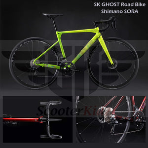 SK GHOST Road Bike with Shimano SORA 18 Speed - Disc Brake