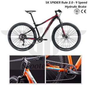 SK SPIDER 2.0 - 9 Speed with Shimano Hydraulic Brake 27.5/29 Inch 2020 New Version