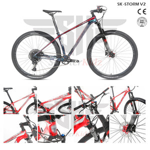 SK STORM v2 Carbon Frame T800-18K Mountain Bike 27.5inch with Hydraulic Brake [Shimano & SRAM Model]