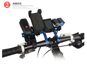 Taiwan Made Carbon Fiber Extender Bar Holder Mount For Scooter/Bicycle