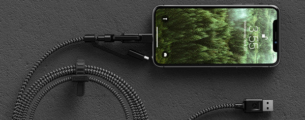 The universal cable by Nomad allows you to charge all of your devices with one cord.