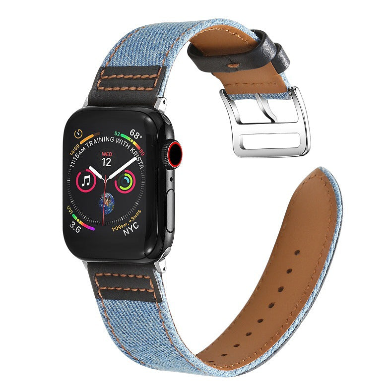 Canvas Leather Apple Watch Band