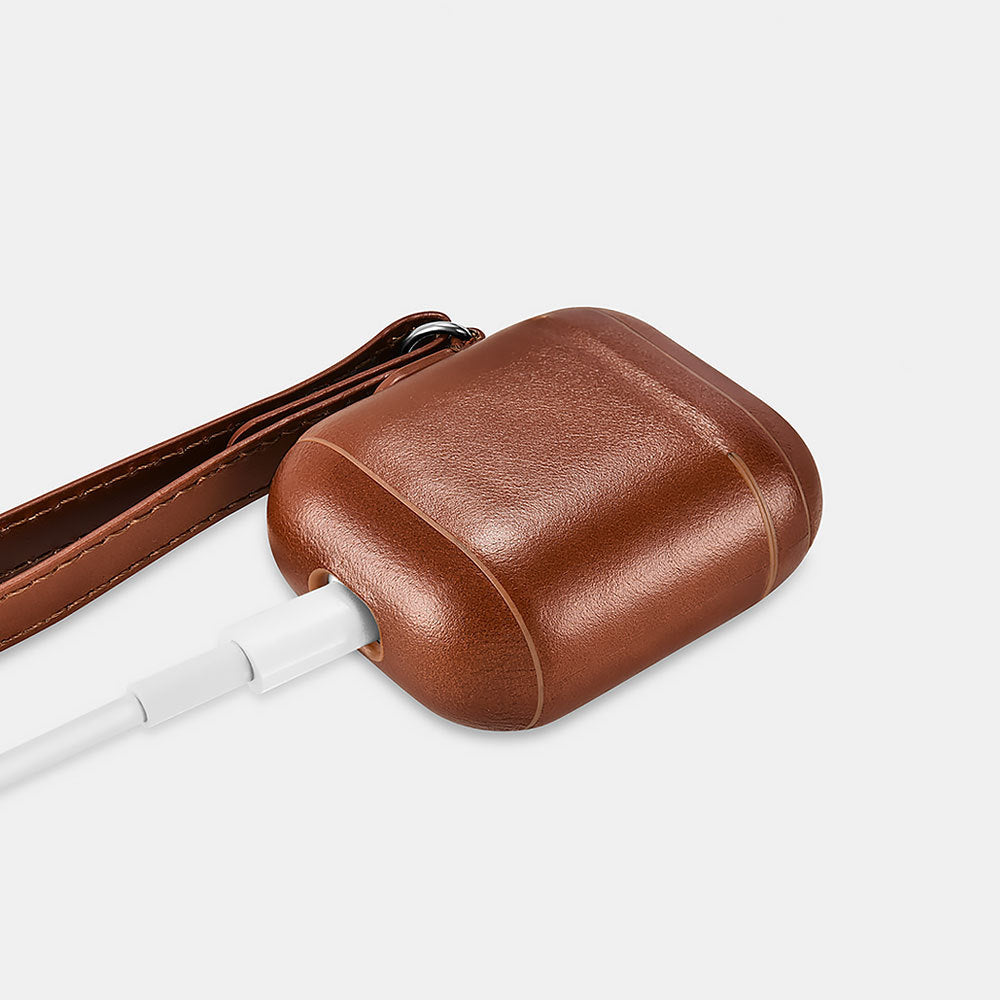 Airpods Leather Case with Strap